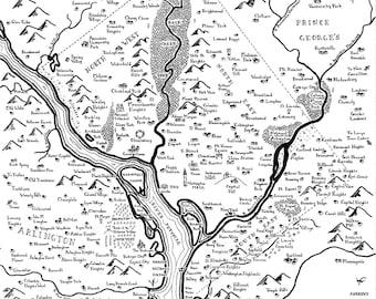 Fantasy map of Washington, DC