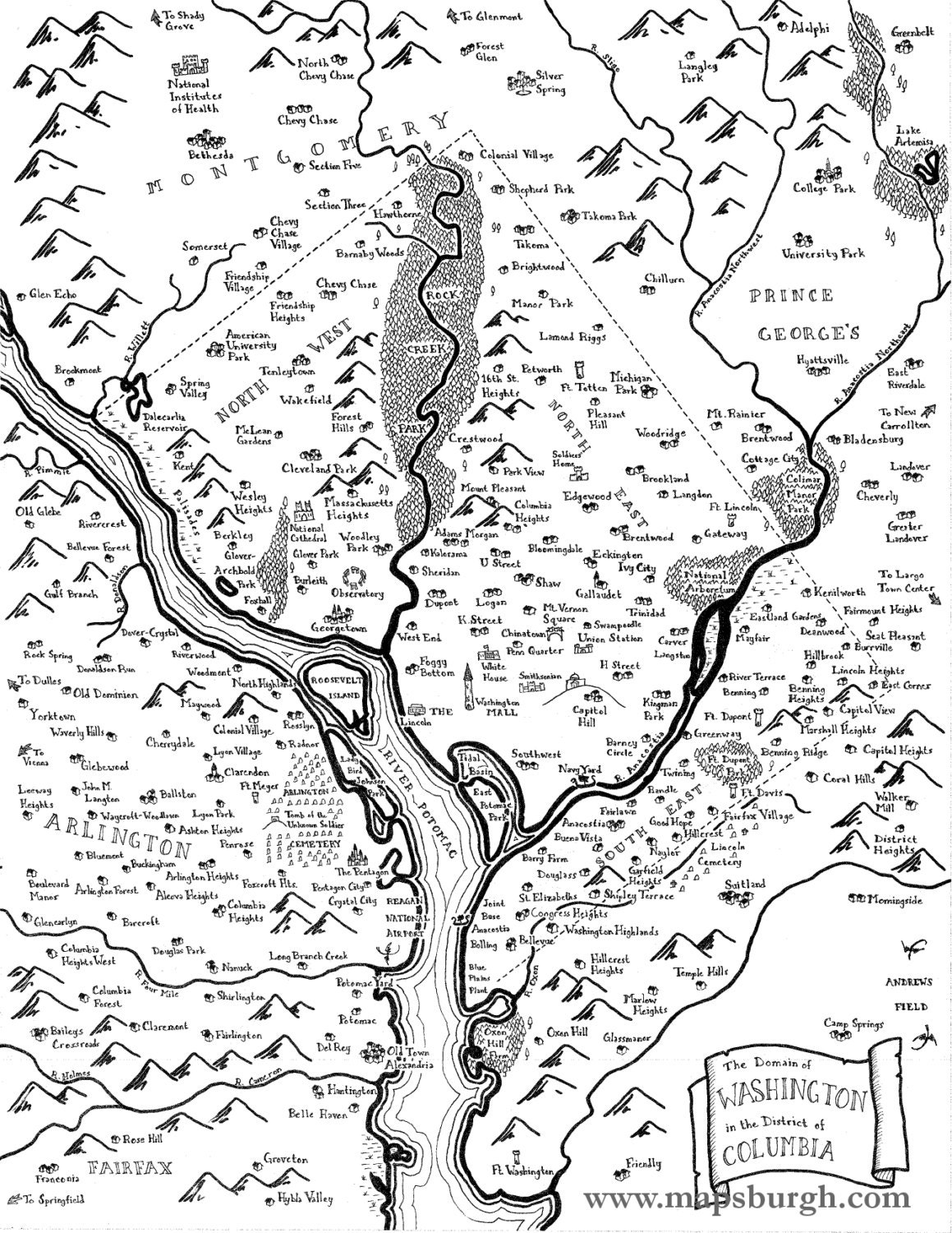 Fantasy Map Of Washington Dc