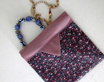 Mini Wallet, Snap Bag, Mauve Pink, Coin Purse, Cosmetic Pouch, Cosmetic Bag, Snap Coin Purse, Flex Bag, Charger Cord Bag, Ear bud Bag
