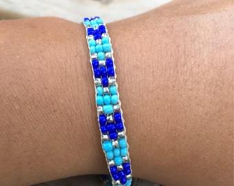 Azuela Chevron Beadwoven Bracelet