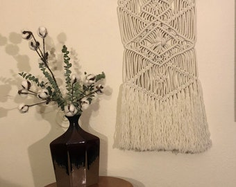 Hand-knotted macrame