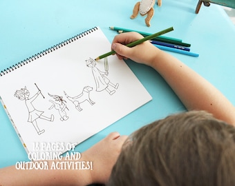 Coloring Book for Kids, Outdoor Activities, Coloring Book, Activity Book
