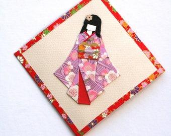 Hanging wall geisha in kimono