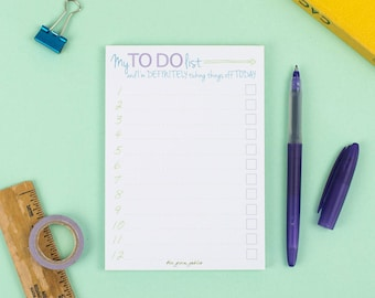 List Note Pad – My To Do List Notepad – Eco Friendly Stationery – Daily List Pad – Organiser – Planner Pad – Happy Living
