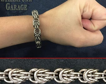 Scherzo Weave Bracelet - Stainless steel chainmaille