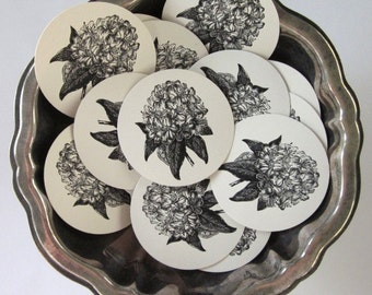 Rhododendron Flower Tags Round Paper Gift Tags Set of 10