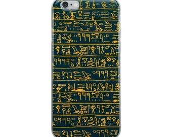 Egyptian hieroglyphs, Phone Case For iPhone 8 iPhone 8 Plus, iPhone X, iPhone 7 Plus, iPhone 6, iPhone 6S