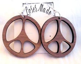 Wood Earrings (Fishhooks)  African Mahogany