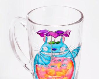 Totoro Mug, Hayao Miyazaki My Neighbor Totoro, Anime Mug, Kawaii Mug, Totoro Gift, Cartoon Mug, Anime Fan Gift