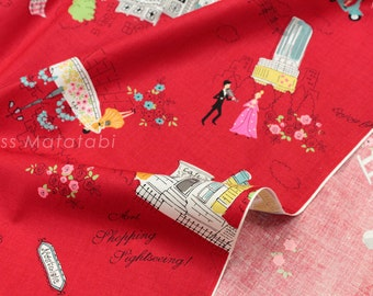 Japanese Fabric Love Osaka - red - fat quarter