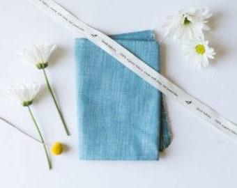 Forest Organic Yarn-Dyed Chambray, Birch Fabrics, Certified Organic Cotton