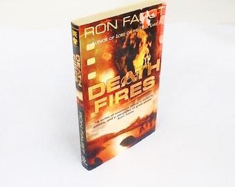 Death Fires: Ron Faust (1997, Forge) Vintage Mystery Suspense Fiction Paperback Book Psychological Thriller