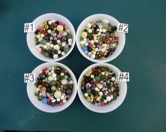 Bag O' Beads. More than 3.6 Ounces of Mixed Destash Beads. Choose a Group. Multi-color and Various Sizes and Shapes. 5006