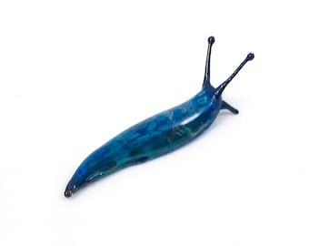 Blue Spotted Slug - Borosilicate Glass Sculpture