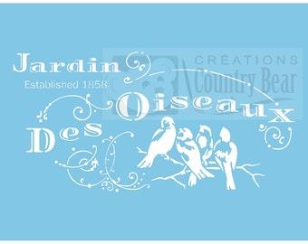 Stencil - Jardin des Oiseaux - ST-861