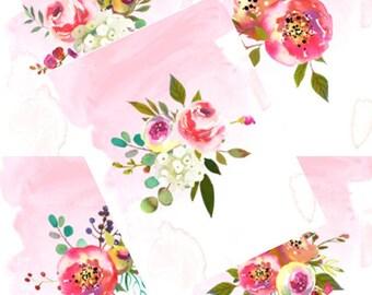 Vertical Art Prints - Floral Watercolor