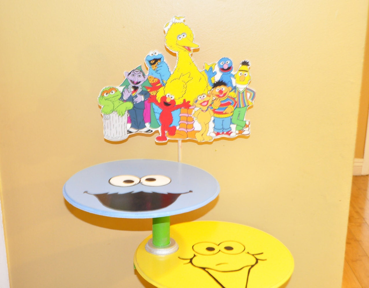 Sesame street inspired cupcake stand elmo cupcakes baby
