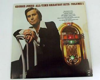 George Jones All Time Greatest Hits Volume 1 Vinyl LP Record Album KE 34692