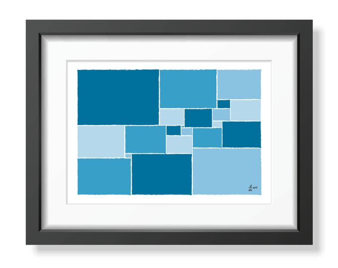 Squared square stretched 04 [mathematical abstract art print, unframed] A4/A3 sizes