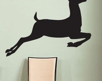 Vinyl Wall Decal Sticker Deer Jumping 199B