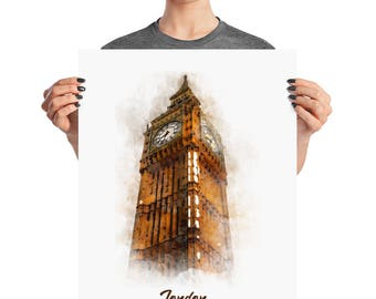 The Big Ben Watercolor Artwork Print