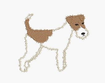 Instant download   Machine Embroidery  dog fox terrier