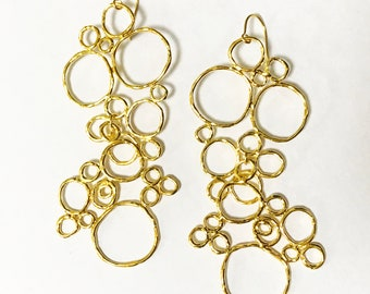 BUBBLE earrings silver - gold plated