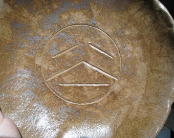Terra Cotta Dish - Ceramic Dish - Art Dish - Face - Archaeology