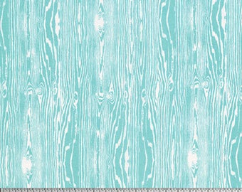 True Colors - By Joel Dewberry - Wood Grain - Aqua (PWTC008) - One Yard - 9.50 Dollars