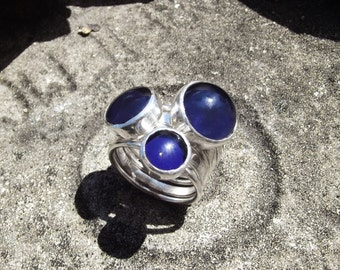 Silver Stacking Mood Rings