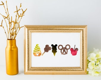 Snacks - Disney Inspired Silhouette - DIGITAL PRINT DOWNLOAD