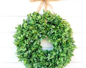 Farmhouse Wreath-NEW 2018-Spring Wreaths-Greenery Wreath-Lemon Leaf WREATH-Farmhouse Home Decor-Spring Wreath-Summer Wreath-Door Wreath