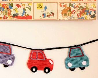 Crochet Bunting - Bertie Cars Garland