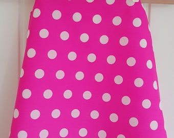 Vibrant Pink  Spot Girls Pinafore Dress Age 4 years