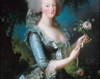 Poster, Many Sizes Available; Marie-Antoinette With The Rose By Elisabeth Vigee-Lebrun