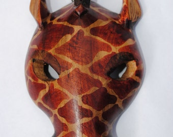 Giraffe wooden mask