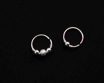 Cute Nose Ring / Beaded Nose Ring / Minimal Nose Ring / Thin Nose Ring / 22g Septum Ring / 22g Nose / Beaded Nose Ring / Boho Nose Ring