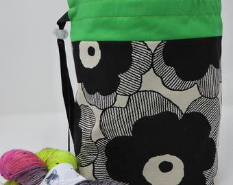 Knitting Bag, Knitting Project Bag, Sock Project Bag, Knitting Organiser, Craft Bag, Crochet Organiser, Knitting Tidy in Linen