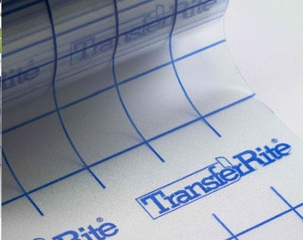 "10 yard Roll TransferRite Ultra Clear Application Transfer Tape WITH GRID 6"" or 12"" for vinyl graphics"