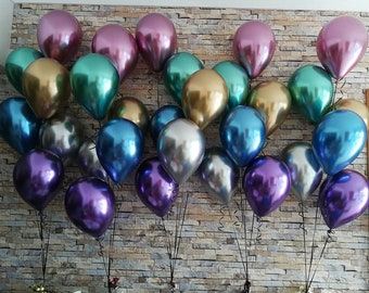 New CHROME latex balloons, chrome balloons, Qualatex
