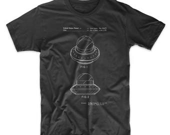 Flying Saucer T Shirt, Flying Saucer Patent, Flying Saucer Shirt, Flying Saucer Blueprint PP0667