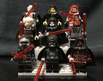 Sith Set | 9x | Custom Minifigures Star Wars