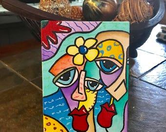 DECORATIVE ART, The love between two ! Mini Canva