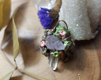 Dainty Forest and Flowers Pendant