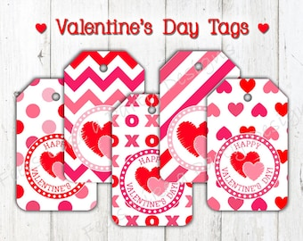 Valentine's Day Tags - Instant Download