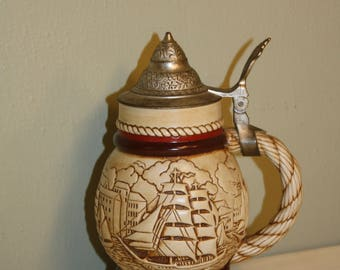 Collectible Avon Tall Ships Beer Stein 1977