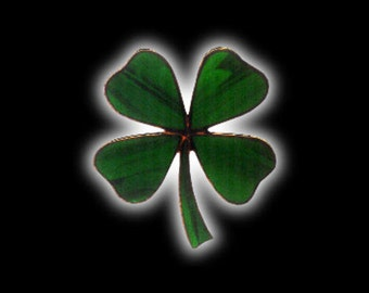 Stained Glass Four Leaf Clover or Shamrock Suncatcher