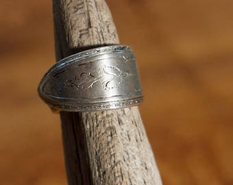 Vintage Silver Plated Spoon Ring