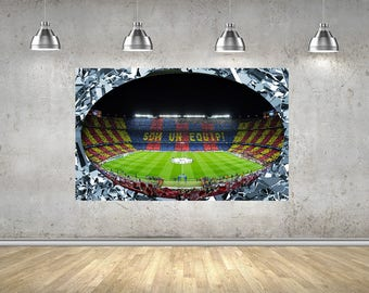 Camp Nou FC Barcelona Stadium 3D Effect Self Adhesive Wall Sticker 1140