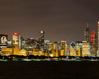 Chicago Blackhawks Stanley Cup Champion Skyline Canvas Wrap